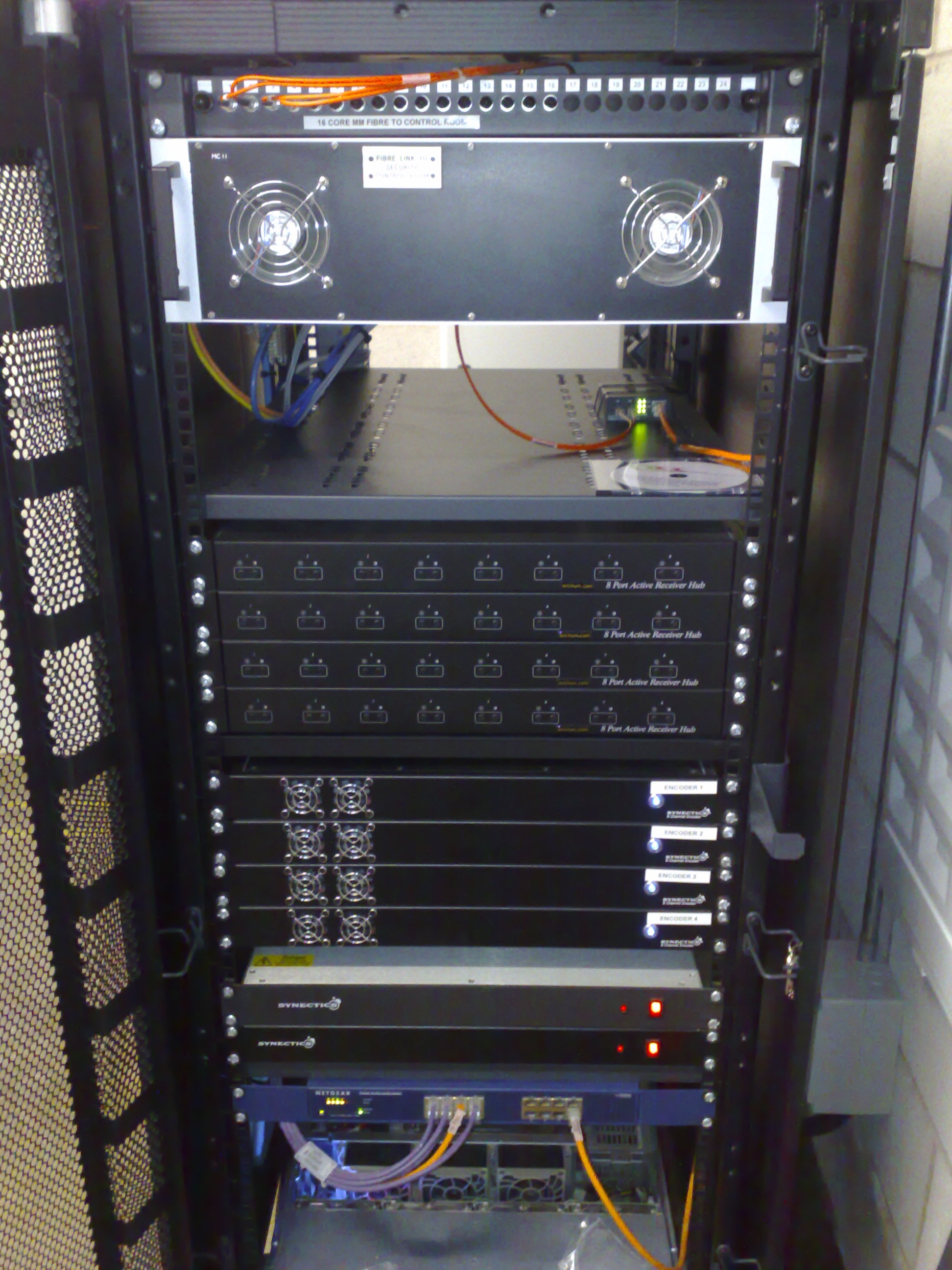 MSCP CCTV And Fibre Network Equipment Rack